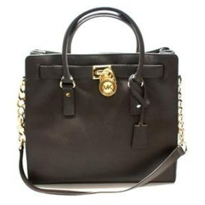 NEW Michael Kors Coffee Hamilton purse